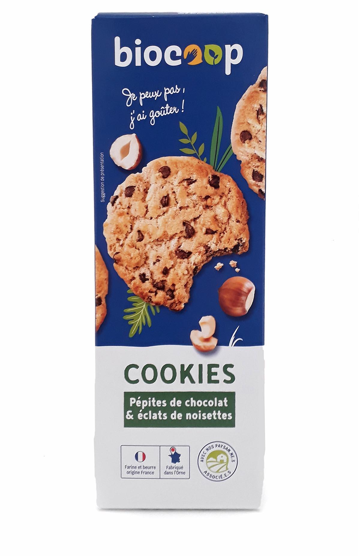 cookies chocolat noisette marque biocoop