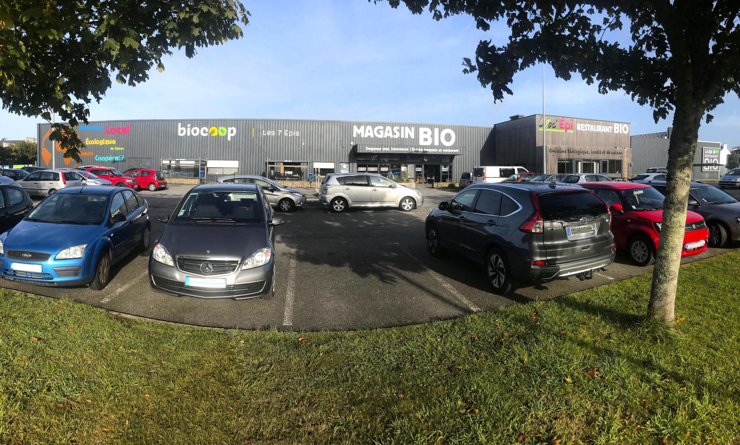 Magasin et parking Biocoop les 7 Epis Lorient Keryado