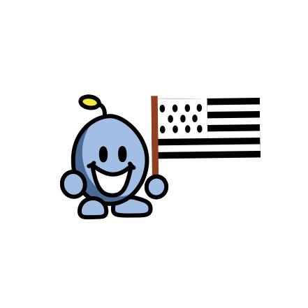 mascotte les 7 épis avec drapeau breton