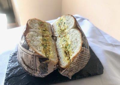sandwich poulet à l'indienne