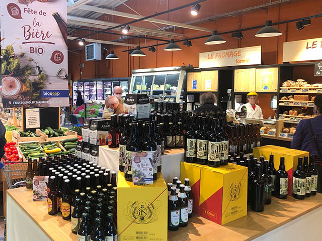 rayon bière au magasin de Keryado